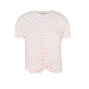All Saints Large Pink Striped Top
